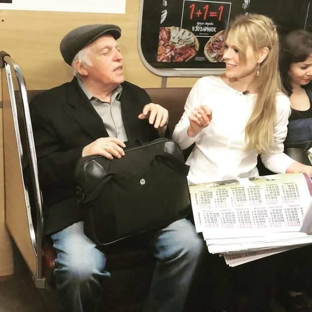 Ольга Фркеймут у київському метро