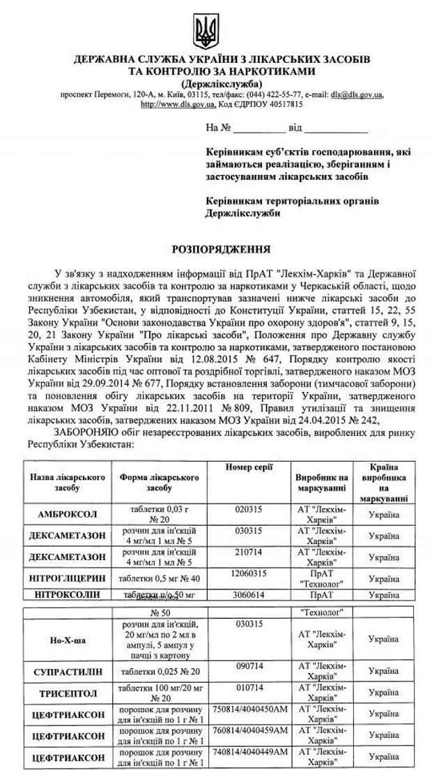 В Україні заборонили низку медичних препаратів
