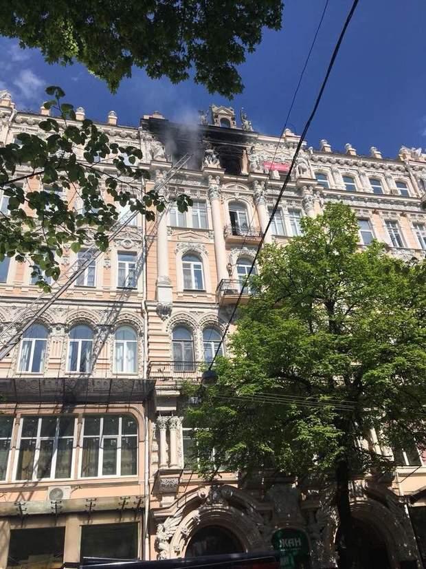 Пожежа Київ будинок Гінзбурга