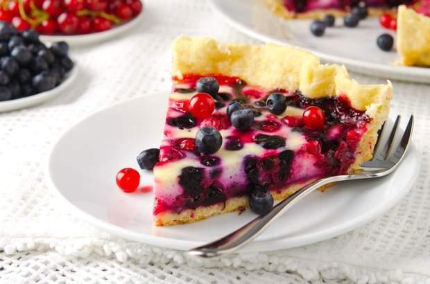 Рецепт ягідного пирога без цукру