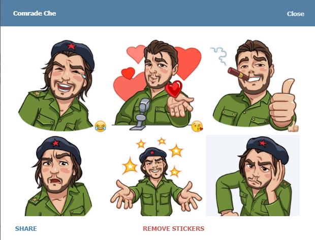 Скріншот стікерпаку Comrade Che