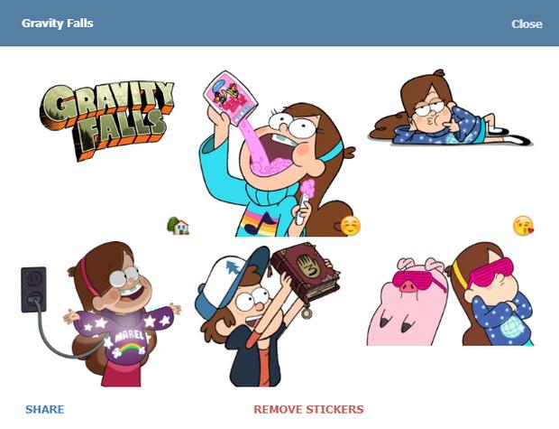 Скріншот стікерпаку Gravity Falls