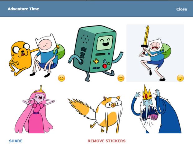 Скріншот стікерпаку Adventure Time