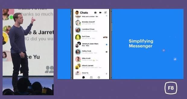 Марк Цукерберг презентував оновлений дизайн Facebook Messenger