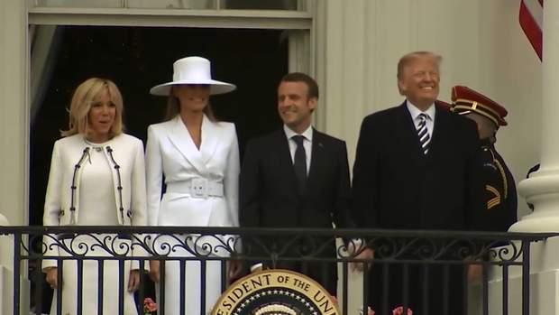 Трамп на зустрічі з Макроном