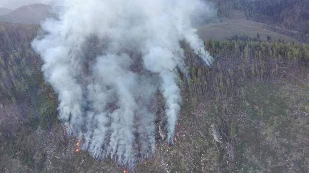 Пожежа у словацьких Татрах