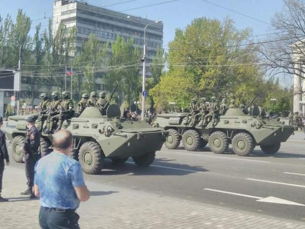 Опубліковані фото підготовки бойовиками параду до 9 травня в Донецьку (1)