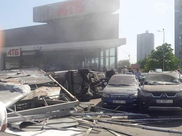 Фото з місця події ДТП у Дніпрі