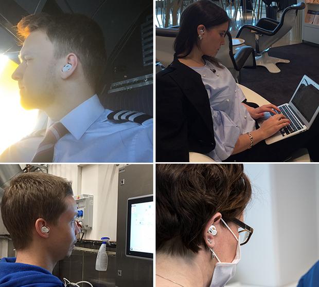 Приклади використання навушників для блокування звуку