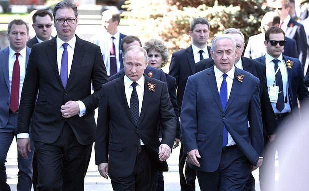 Святкувати 9 травня до Путіна приїхали лише президент Сербії Александр Вучич та прем'єр Ізраїлю Біньямін Нетаньягу