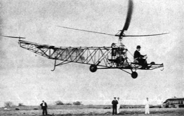 Перший політ Сікорського на гелікоптері