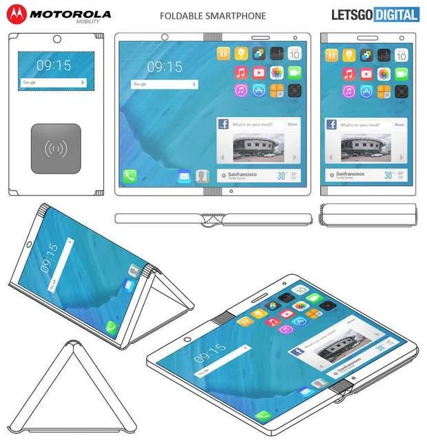Motorola запатентувала гнучкий смартфон