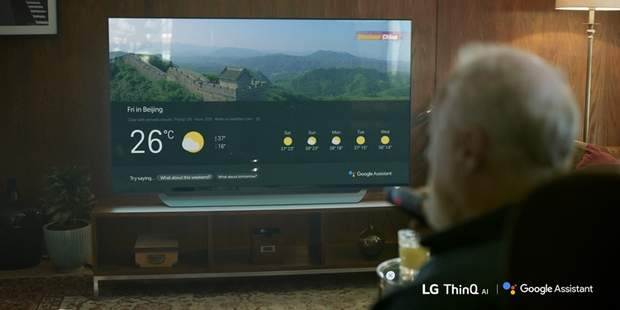 Телевізор  LG з функцією  Google Assistant