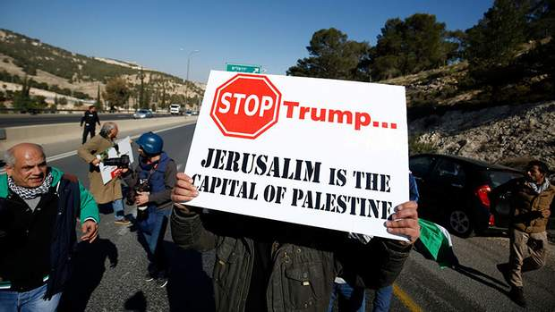 Палестинці продовжать запекло протестувати проти визнання Єрусалиму столицею Ізраїлю