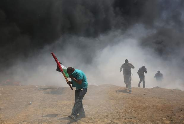 Палестинці палять шини на кордоні між Сектором Гази та Ізраїлем