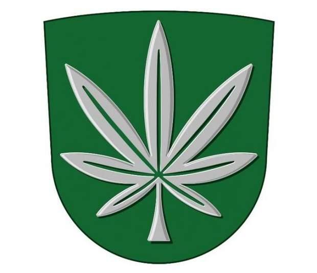 Герб города с коноплей наказание за провоз марихуаны