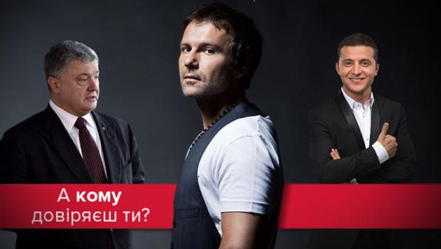 Порошенко Вакарчук Зеленський