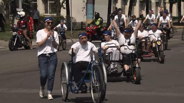 Велопробіг ветеранів російсько-української війни Київ травень 2018