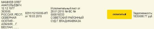 Мамиев, Донбасс, ипотека, задолженность, суд Россия