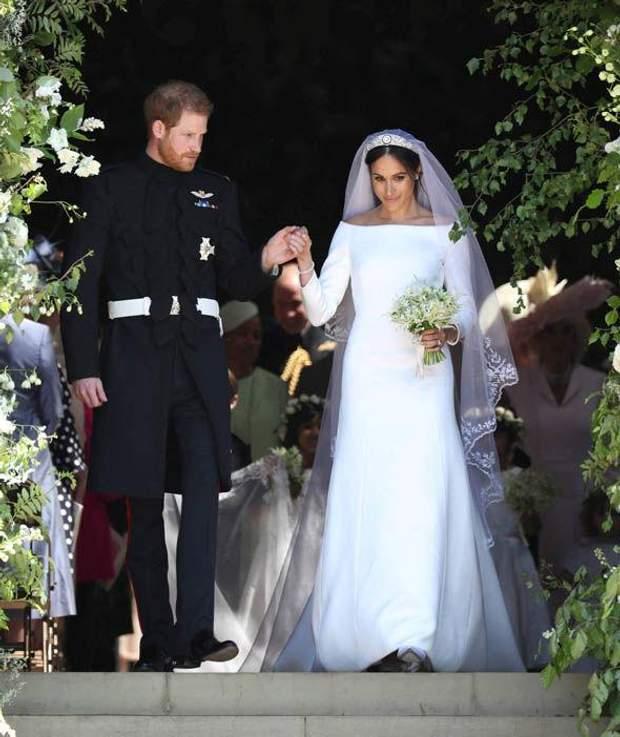 Перша весільна сукня Меган Маркл 19 травня 2018 року