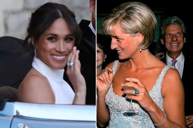 Меган Маркл приміряла перстень принцеси Діани 19 травня 2018 року