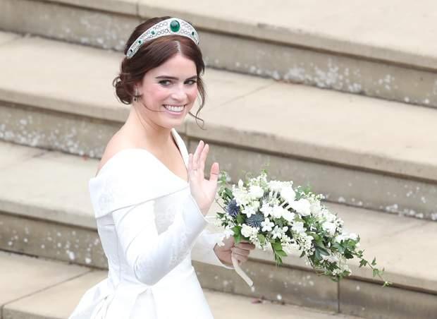 Весільна тіара і прикраси принцеси Євгенії 12 жовтня 2018 року