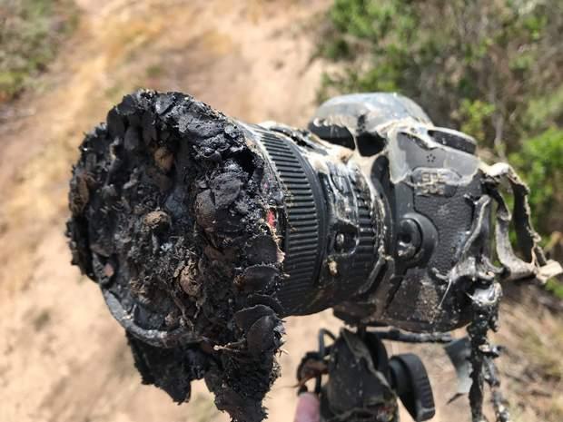 Камера після зйомки запуску Falcon 9