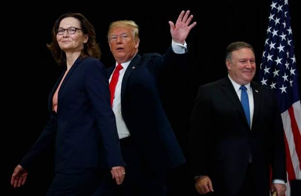 Джина Хаспел і Дональд Трамп