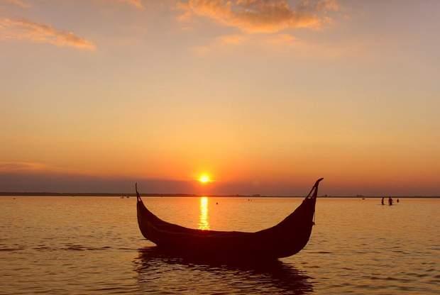 Озеро Світязь, захід сонця