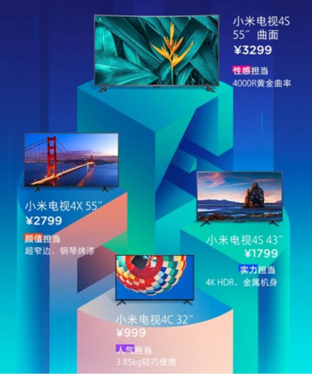 Xiaomi презентувала 4 нових телевізори