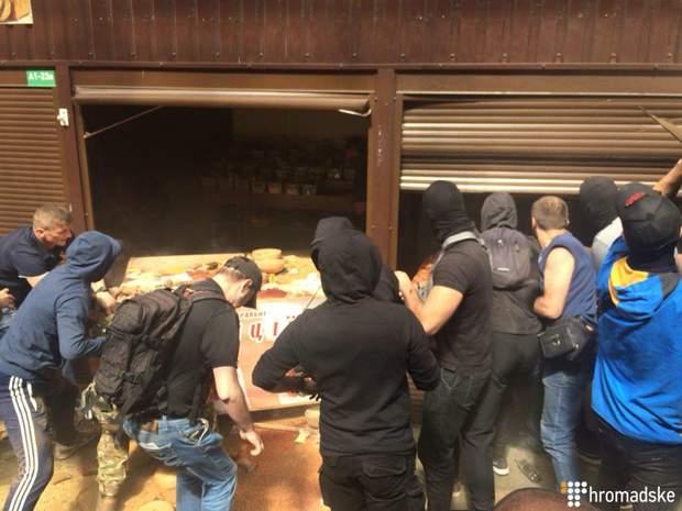 Київ сутички С14 поліція ринок