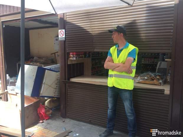 Кіоски ринок Київ погром С14 сутички
