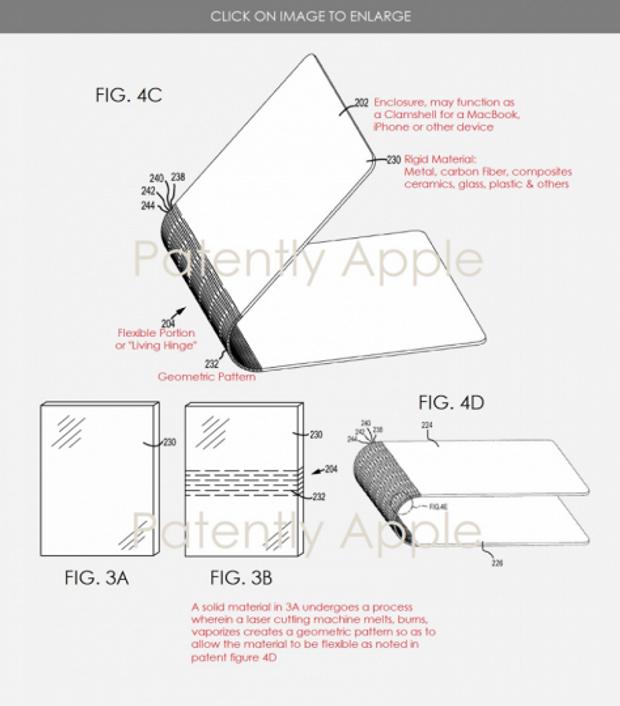 Патент шарнірів для нового пристрою Apple