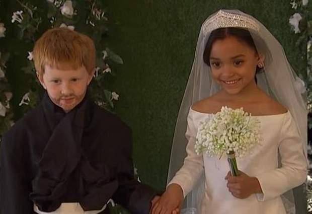 Американські діти повторили весільний образ принца Гаррі і Меган Маркл