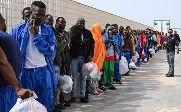 Беженцы с Африки