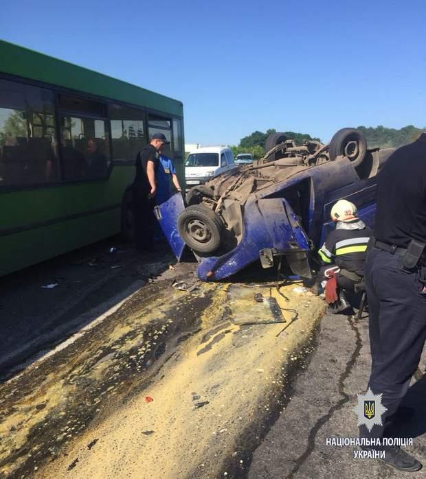 ДТП, Харківщина, жертви, ДТП, MAN, ІЖ, автобус