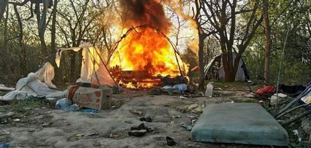 Під час спалення табору ромів ніхто не постраждав