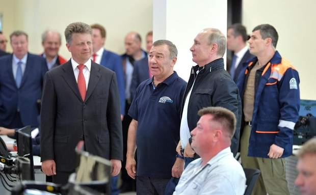 Ротенберг та Путін на відкритті Кримського мосту