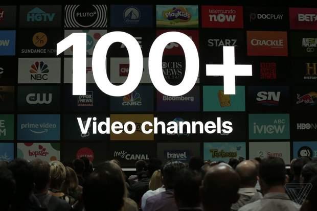 tvOS 12 з'явиться ббільше 100 нових каналів