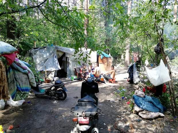 Табір ромів захопив парк в Києві
