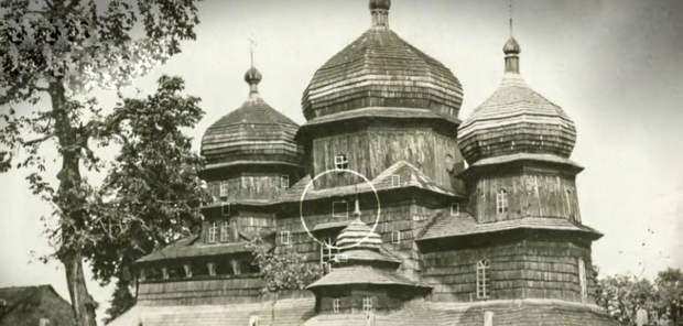 Фото дерев'яної церкви у Дрогобичі