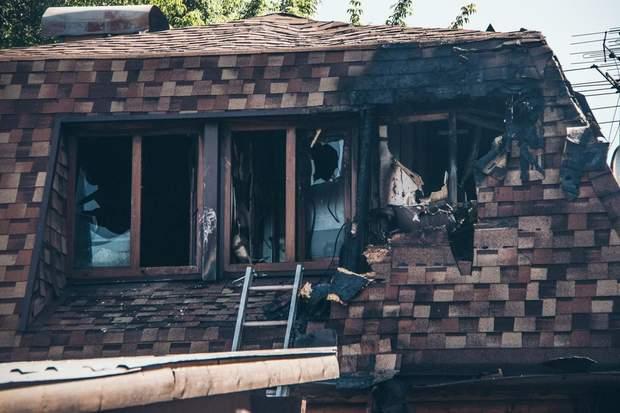 Згоріла баня в Києві
