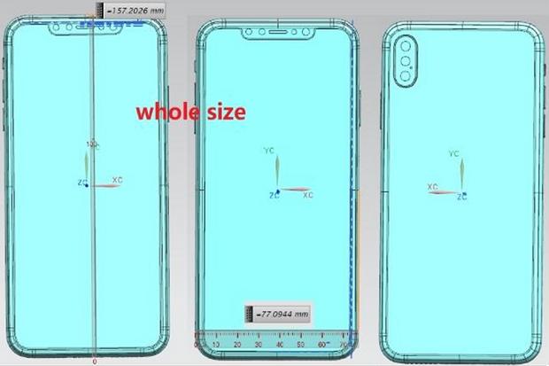 Зображення 6,5-дюймого iPhone 2018