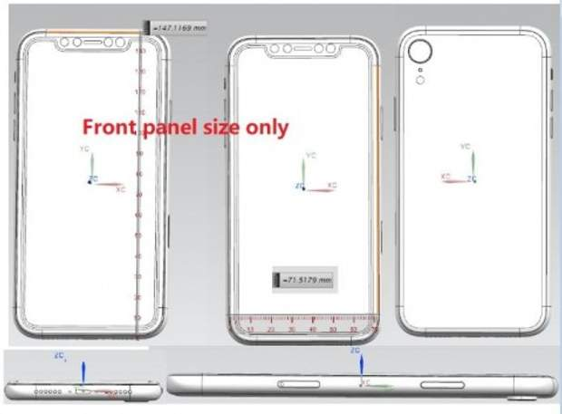 Зображення 6,1-дюймового iPhone 2018