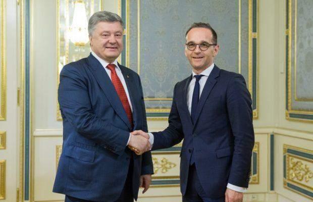 Петро Порошенко і Хайко Маас