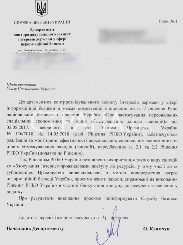 СБУ, список, інтернет, заборона, Росія, ЛНР, ДНР, Крим