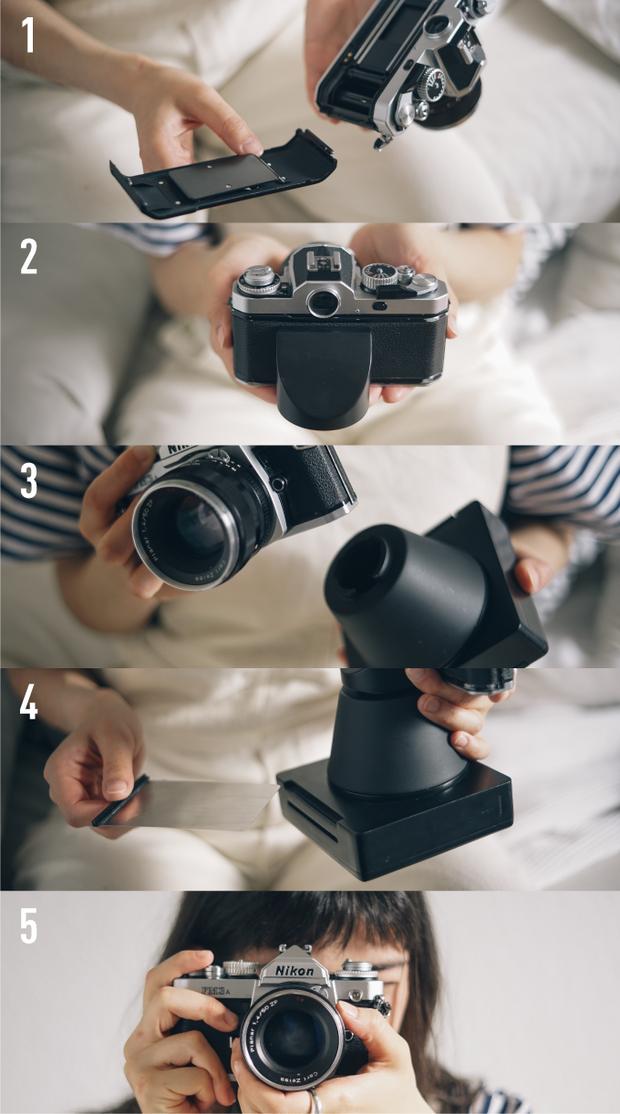 Насадка для плівкових камер для миттєвого друку фото