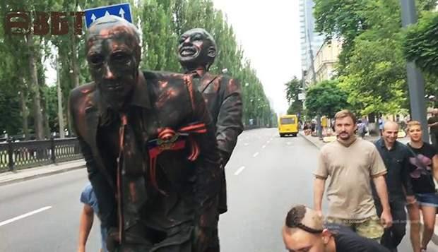 Київ Марш рівності скульптура Путін секс статевий акт афроамериканець