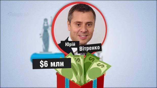 Юрій Вітренко отримав 6 мільйонів доларів