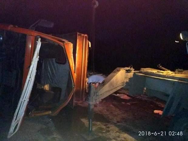Ліквідування наслідків ДТП з вантажівкою